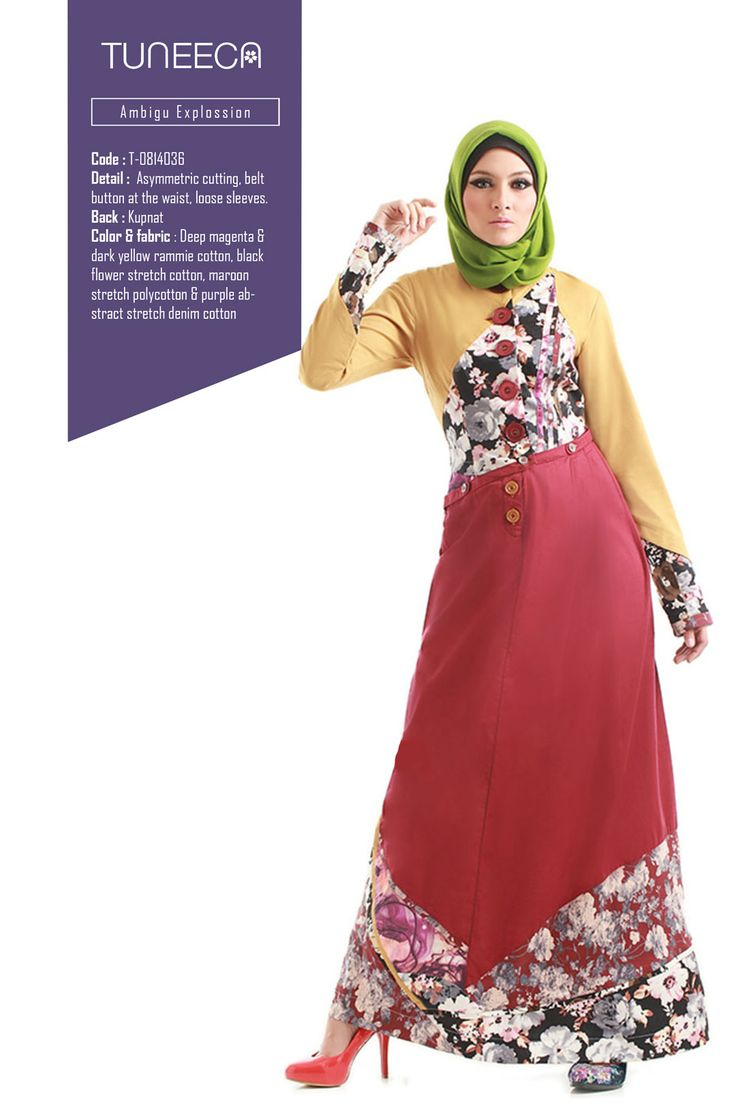 Lady In The Dramaqueen by Tuneeca  #tuneeca #muslimwear #hijab #fashion #casualwear #tuneeca #muslimwear #hijab #fashion
