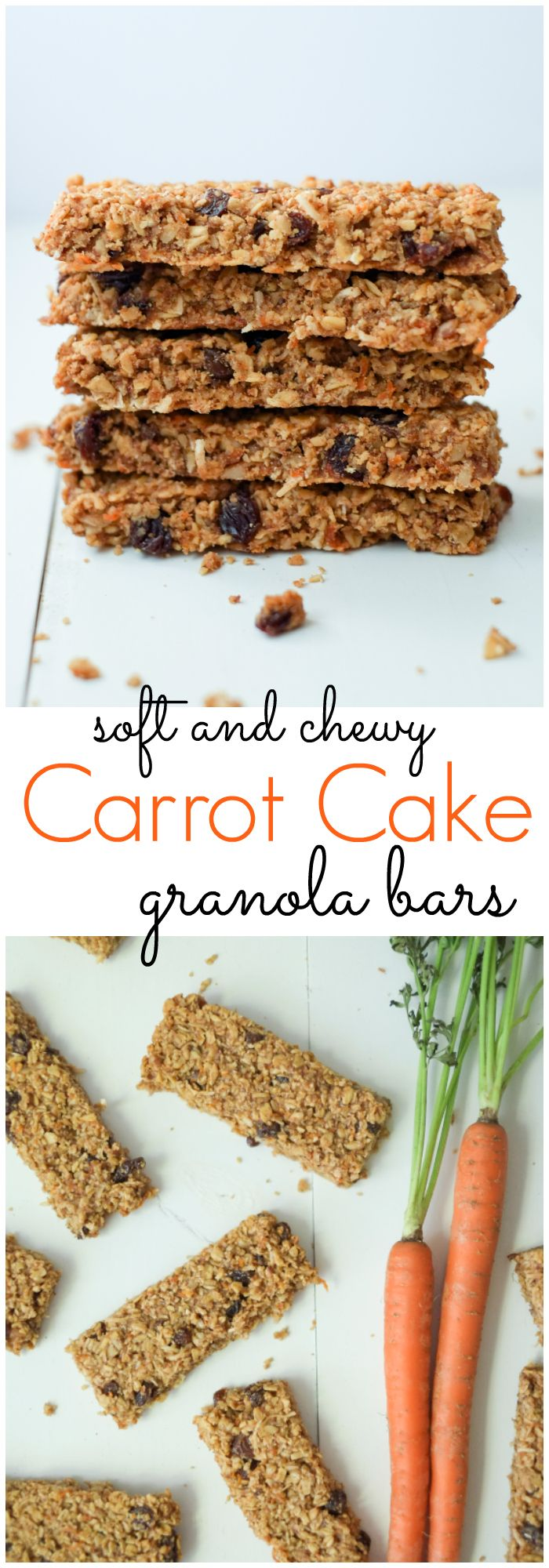 Healthy Carrot Cake Granola Bars. We love these healthy, soft carrot cake granola bars - they're tasty and include a vegetable! High in protein and fiber, this snack will keep you full! http://www.superhealthykids.com/healthy-carrot-cake-granola-bars-recipe/