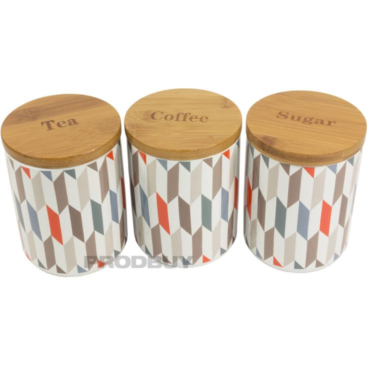 Price U0026 Kensington Geometric Ceramic Tea Coffee Sugar Storage Canisters Jars