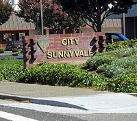 Sunnyvale, California - Wikipedia, the free encyclopedia: Sunnyval Signs Jpg, California, Sunnyvale Ca, Aunts, Bigger Cities, Standards Markers, Sunnyvale Landmarks, Large Cities, Cities Entrance