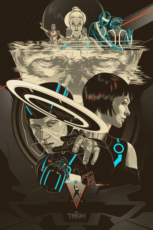 "Super Hadouken Entertainment | Join The Movement.: Super Tough!: Glow in the Dark ""Tron"" and ""Tron: Legacy"" Prints from Mondo Tees!"