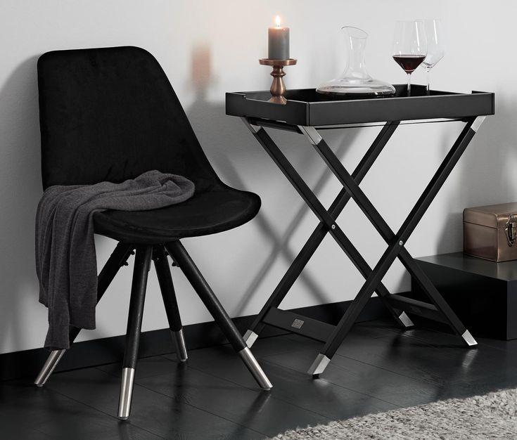 149 00 dieser elegant designte stuhl mit geschwungener sitzschale hat massive. Black Bedroom Furniture Sets. Home Design Ideas