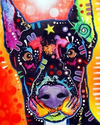 Doberman Painting by Dean Russo - Doberman Fine Art Prints and Posters for Sale