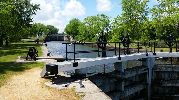 Merrickville Lockstation. Rideau canal, Ontario, Canada.