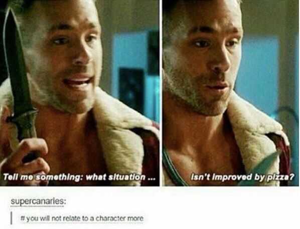 """Seriously though << Legit thoooo. People say Deadpool is way too Rated R. Like, """"Nawwww, bitch, your life is too Rated R!"""""""