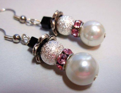 Earrings, Snowman, Swarovski Crystals | bellasgems - Jewelry on ArtFire