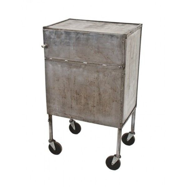 industrial steel furniture. u20ac395 liked on polyvore featuring home furniture storage u0026 shelves cabinets mobile salvage steel industrial l