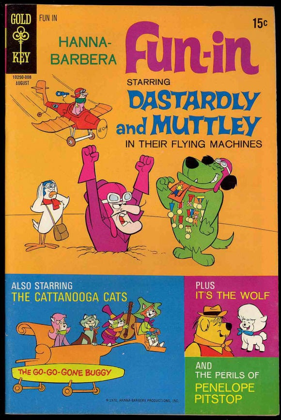 Chuck's Stuff has this Hanna-Barbera's Fun-In comic #3 for sale for $9. Very Fine- 7.5, details on site. Dastardly & Muttley, Penelope Pitstop, Cattanooga Cats, and It's The Wolf stories. 1970's Gold Key. Save 30% if you buy all 8 issues listed on site. If re-pinning, you can edit the description if you want. #comicbooks #hannabarbera