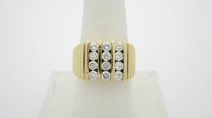 14k  1.80ctw  Men's Diamond Ring  Check out our eBay store stores.ebay.com/newbeginings10