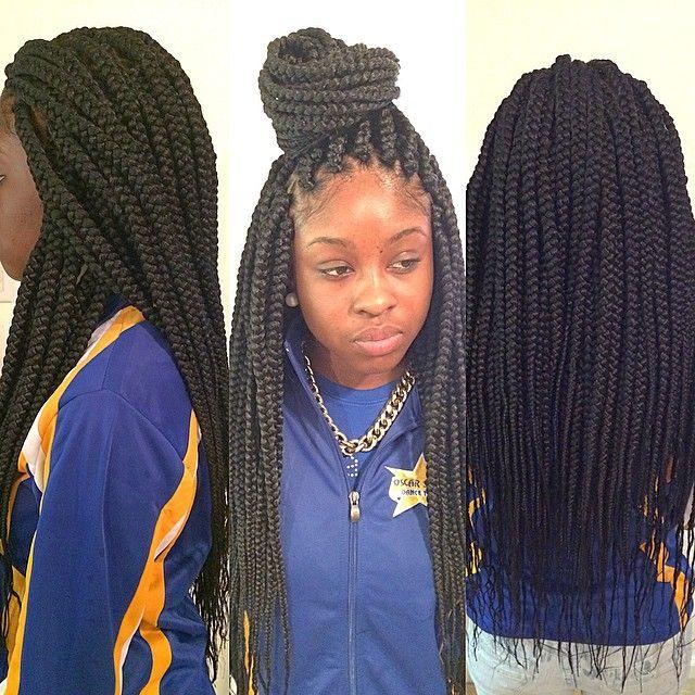 Medium long box braids!