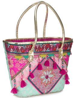 Ethnic bag~Visit www.lanyardelegance.com for Fancy Lanyards and beautiful Crystal Eyeglass Holders for women.