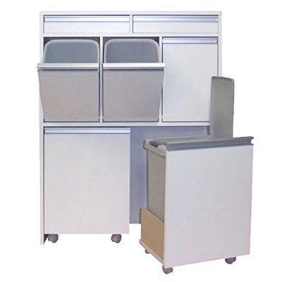 家具製造直販TAICHI グランデ家具調5分別ダストボックス/ホワイト