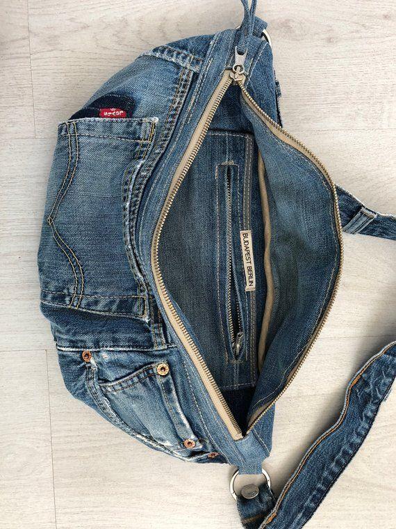 Repurposed Levis Jeans Denim Umhängetasche | Etsy