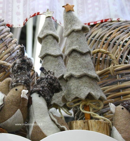 Alberi di Natale in lana infeltrita