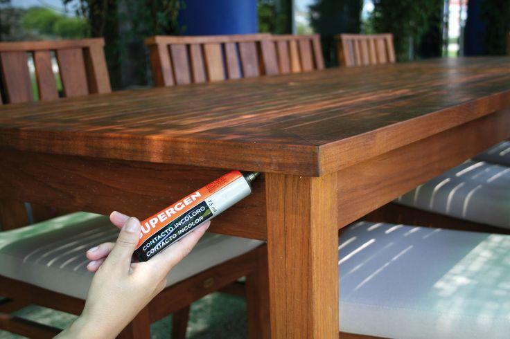 Cola de contacto para uniones resistentes, flexibles y duraderas. #DIY #bricolaje #tesa #pegamento #cola #adhesivo #supergen #contacto #madera #plastico