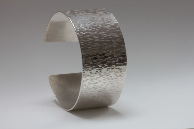 Hammered silver cuff by Robyn Manning