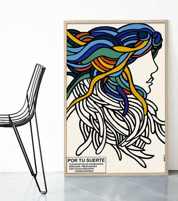 Por Tu Suerte Ospaaal Poster Print Mid Century by BoldModern