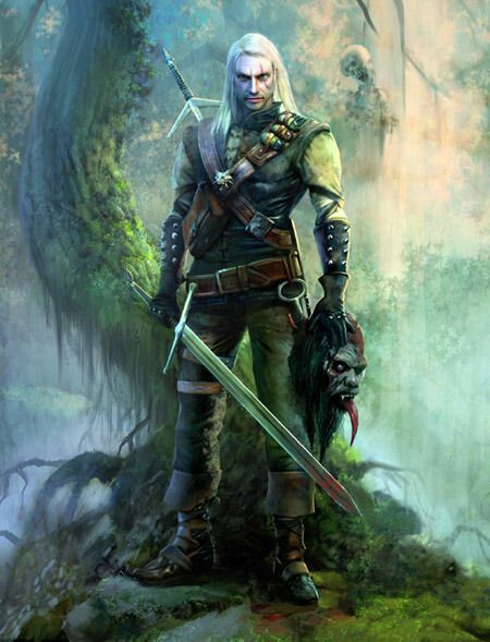 m Ranger Leather Sword Orc Head wilderness Geralt of rivia