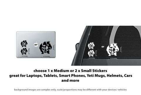 Pokemon Go Charmander Charizard Charmeleon Evolution Decal/Sticker - Car, Laptop…