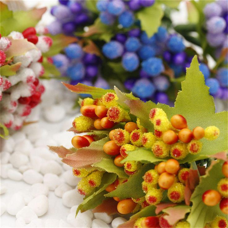 new 10pcs Retro Style Stamen Artificial Flowers Bouquet For Wedding Party Decoration DIY  Wreath Decorative  Flowers