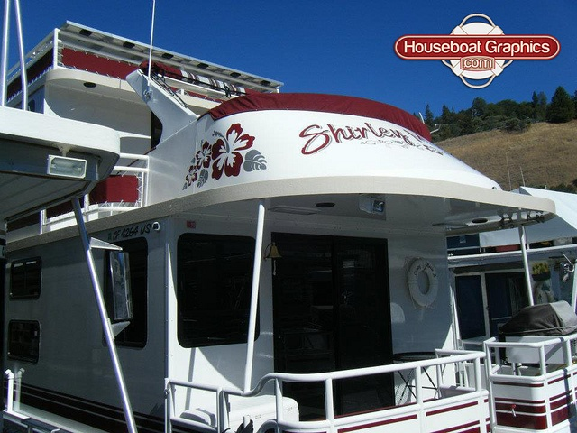Best Boat Or Houseboat Decal Names Images On Pinterest Design - Custom designed houseboat graphics