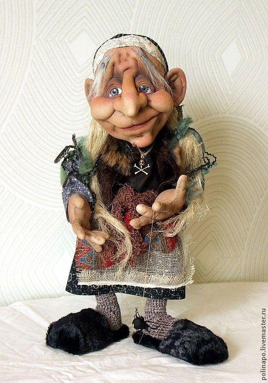 Купить Баба-яга - кукла ручной работы, кукла, текстильная кукла, баба-яга