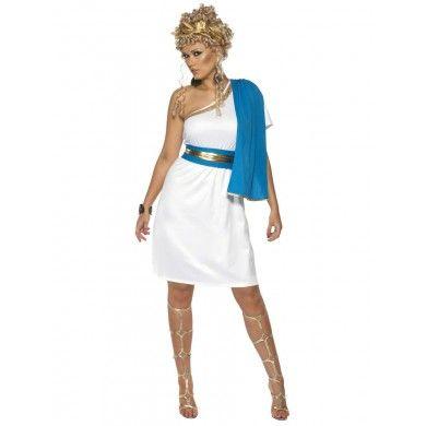 Womens Roman / Greek Toga Fancy Dress Costume + Belt + Laurel