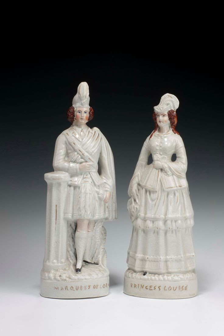 ANTIQUE STAFFORDSHIRE FIGURE OF PRINCESS LOUISE AND MARQUESS OF LORNE Richard Gardner Antiques are based in West Sussex, England.