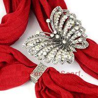 Imán colgantes bufanda España-10PCS / LOT, encanto pendiente de la mariposa del imán del Rhinestone del brillo de la aleación del cinc de los accesorios de la bufanda de la manera de DIY de la manera superior, envío libre, AC0219