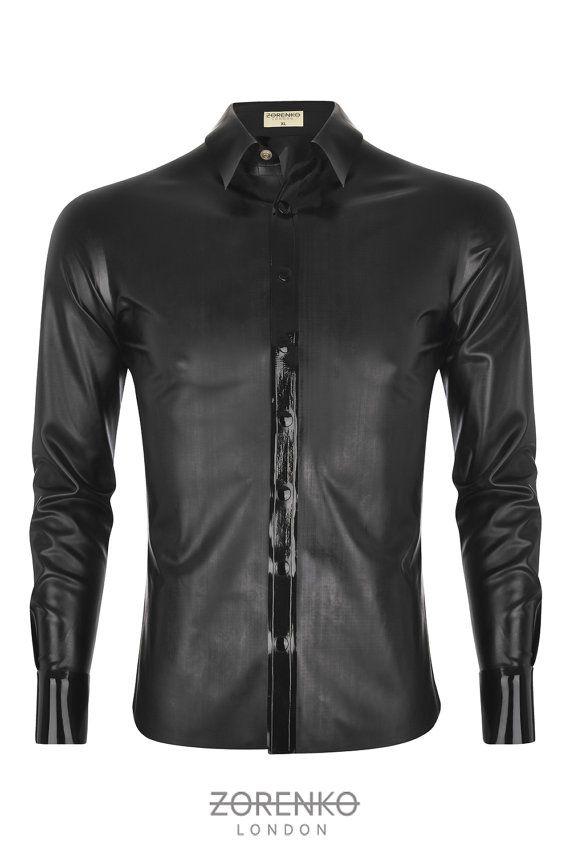 Men's Matte Latex Shirt by ZorenkoLondon