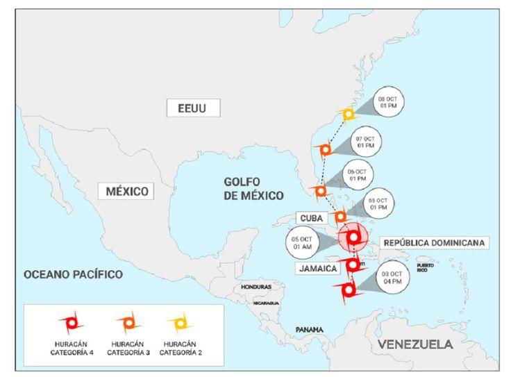 El poderoso huracán Matthew toca tierra en Cuba en su camino a Florida