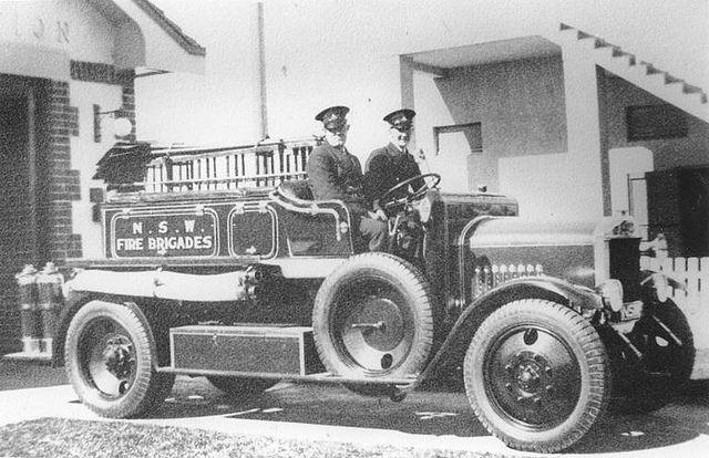 First motor fire engine at Woy Woy 1940-41