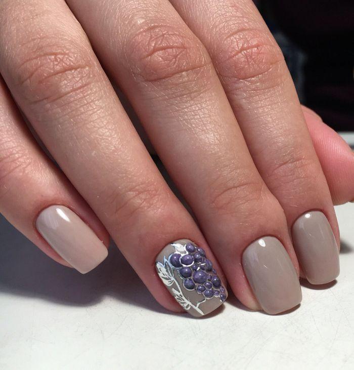 дизайн ногтей виноград фото