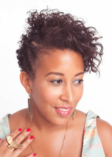 Very Short Curly Hair Women Fashion 2013: Semi Mohawk Curly Short Hairstyle For Women