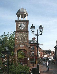 Chesham Clock Tower in Market Square