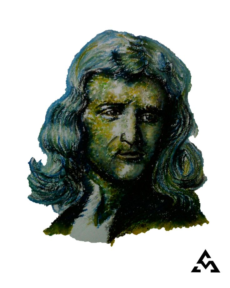 """""""The most influential scientists of all time""""  -oil pastel in 9x12"""" canson sketchpad  #isaacnewton #newton #scientist #physics #portrait #drawing #dailydrawoff #art #oilpastel"""