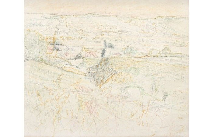 HORIA BERNEA, (Sketch for) Old Romanian city, http://lavacow.com/current-auctions/contemporary-east-lavacow-auction/valley.html