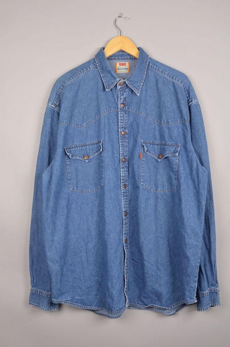 Vintage Levis shirt levi's blouse vintage levi's  vintage blouse szXXL vintage shirt levis shirt levis blouse levis denim shirt | Wrangler door getfittedvintage op Etsy