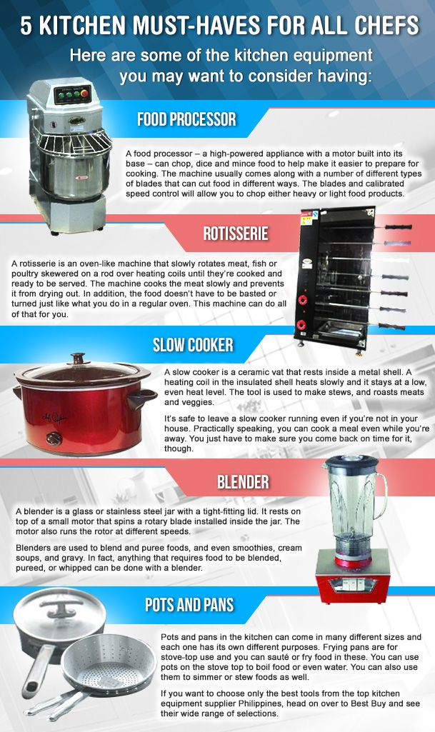 When it comes to kitchen equipment, they can fall into many