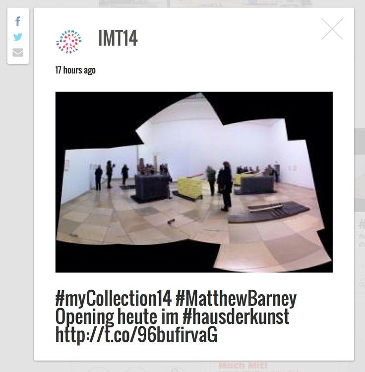 Beispiel - der #IMT14 sammelt Museumseindrücke, Objekte, #MuseumSelfies...