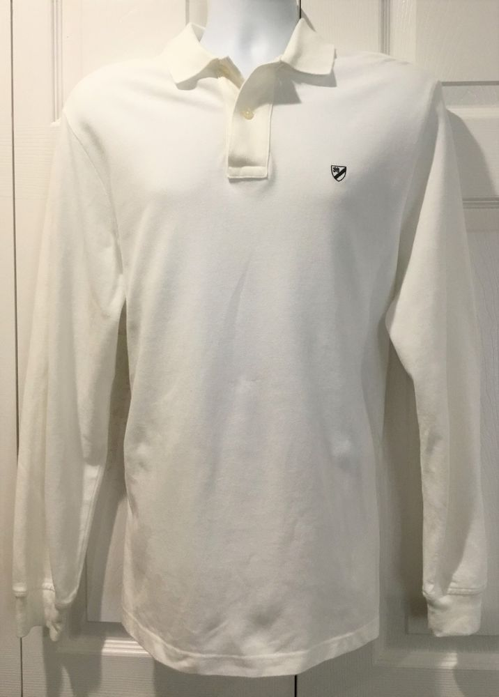 95f0ba6c3bd Daniel Cremieux Classics Men s White Long Sleeve POLO Rugby Shirt With LOGO  L  fashion  clothing  shoes  accessories  mensclothing  shirts (ebay link)