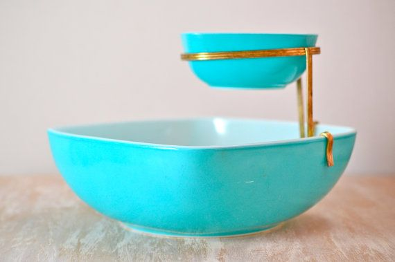 Rare Vintage Pyrex Chip & Dip by NewSwedenVintage, $35.00