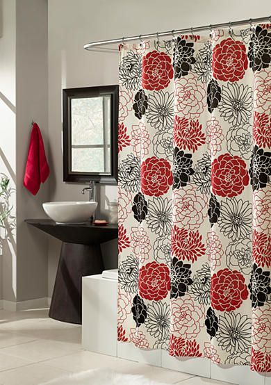 Shower Curtains christmas shower curtains walmart : 17 Best ideas about Red Shower Curtains on Pinterest | Red ...