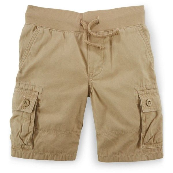 Ralph Lauren Little Boys' Cargo Shorts ($28) ❤ liked on Polyvore featuring men's fashion, men's clothing, men's shorts, boating khaki, mens long khaki shorts, ralph lauren mens clothing, short mens clothing, ralph lauren mens shorts and mens long cargo shorts