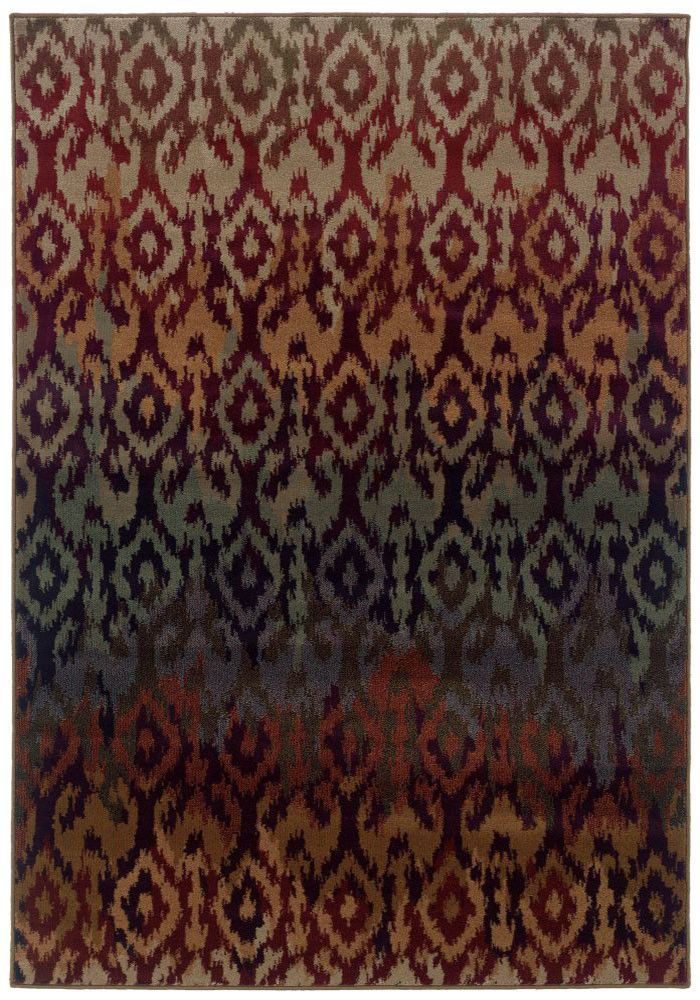 RUST, PURPLE TRANSITIONAL ADRIENNE RUG BY ORIENTAL WEAVERS ● 3809G   Rug Gallery at Concord Mills