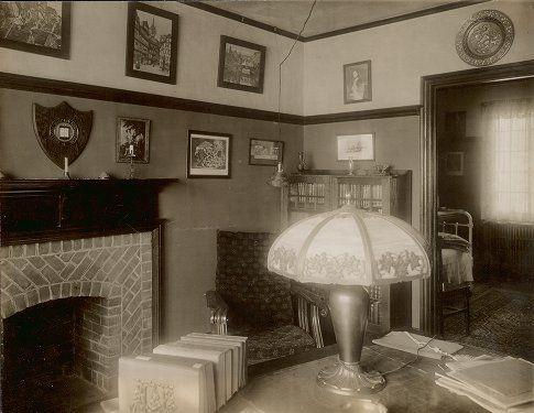 Penn Quadrangle dorm room, 1917