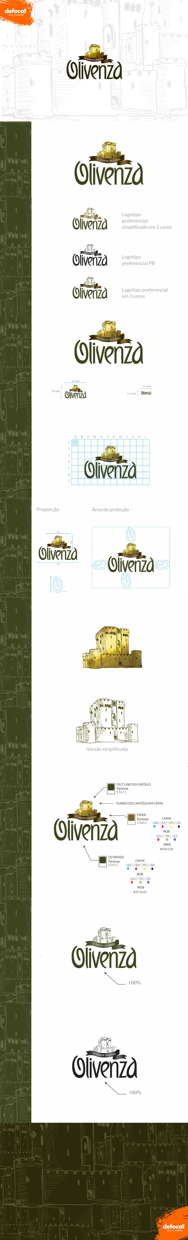 Logo e identidade visual desenvolvidos pela DEFOCO para a empresa de alimentos em conserva Olivenza