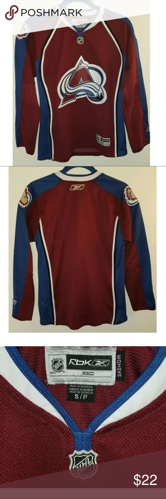 REEBOK Colorado Avalanche NHL Hockey Jersey SMALL Excellent used condition. No rips, tears, or stains. Reebok Tops Tees - Long Sleeve
