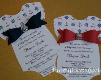 Invitación náutica de Baby Shower invitación náutica náutica