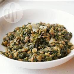 Foto recept: Palak Dhal (Spinazie en linzen)